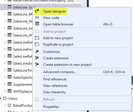 AX7 Extension Validate Field Designer