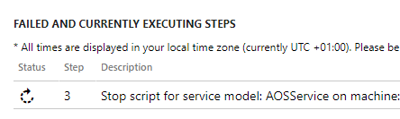 AX7 LCS Stuck Step 3 Stop Script for Service Model
