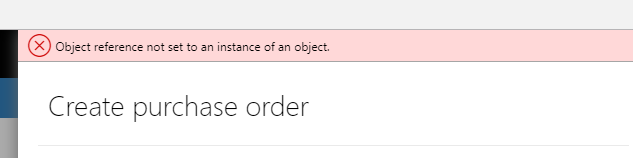 AX Chain of Command Reference not set to an Object Application